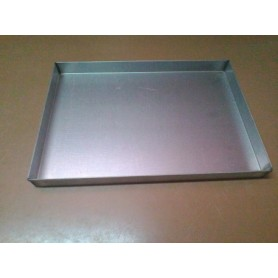 Teglia in lamiera alluminata 50 x 35 h 4 cm