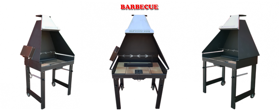 Il barbecue professioanle in ferro da giardino