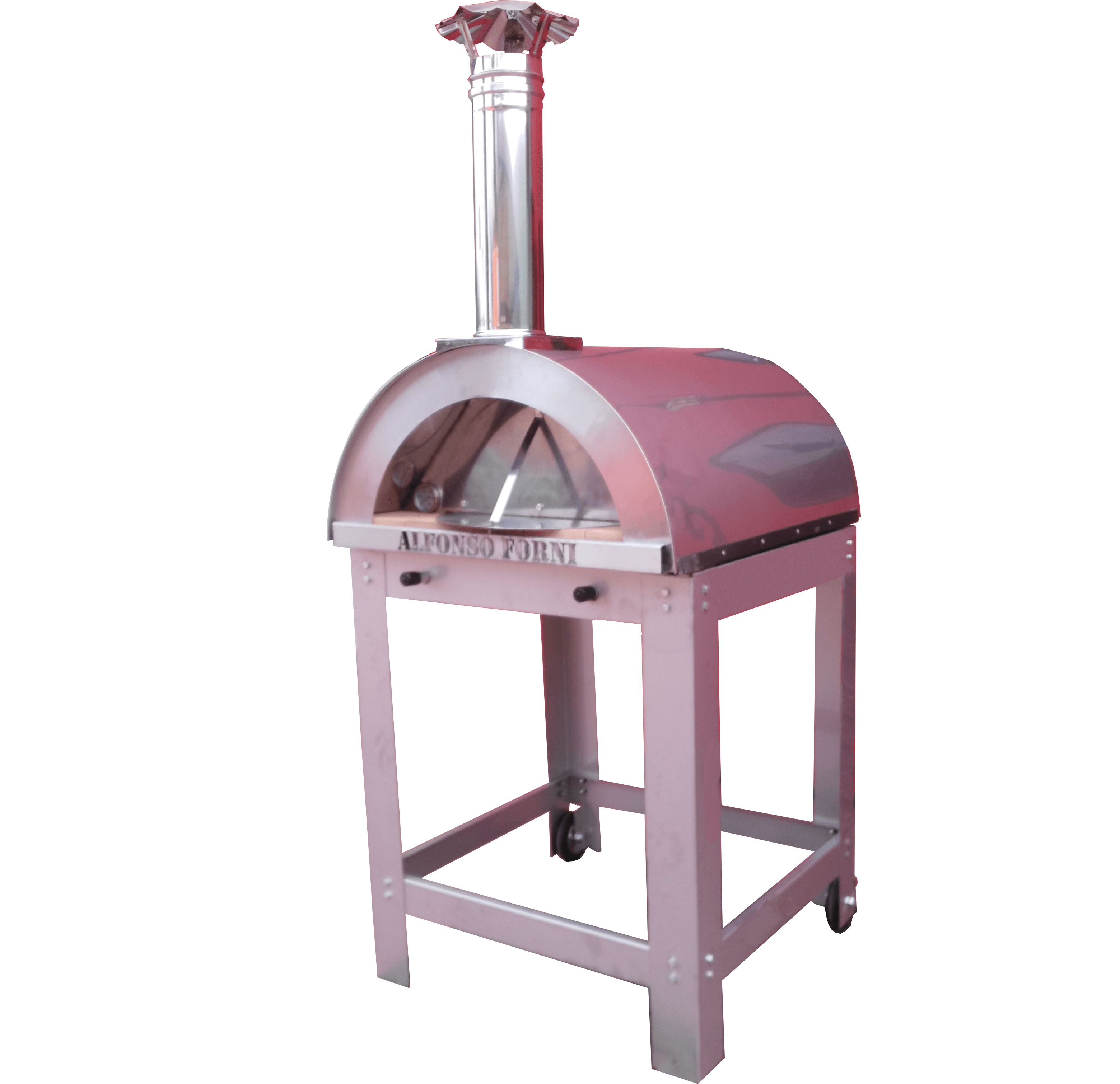 forno a legna alfonso 4 pizze full optional total inox !
